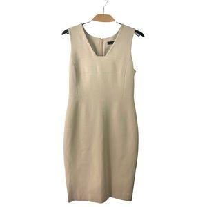 Lida Baday Beige Sleeveless Stretch Dress 12